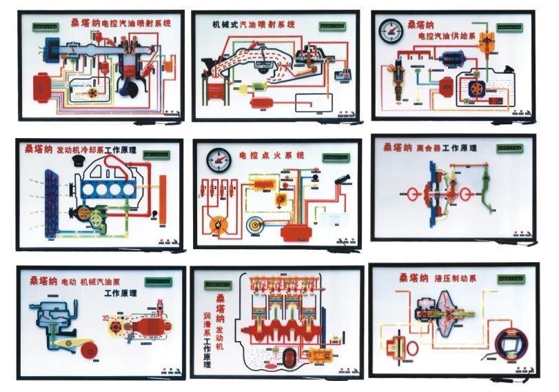 桑塔纳2000gsl时代超人程控电教板-上海博才科教设备